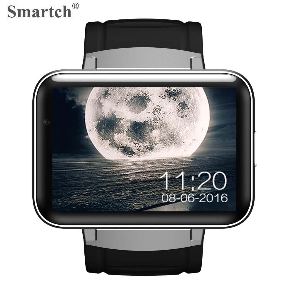 Smartch DM98 Bluetooth Smart Watch,3G Network,GPS,WiFi,Camera,2.2inch Large Touch Screen,MTK6572 CPU,Android 4.4 OS,4GB ROM