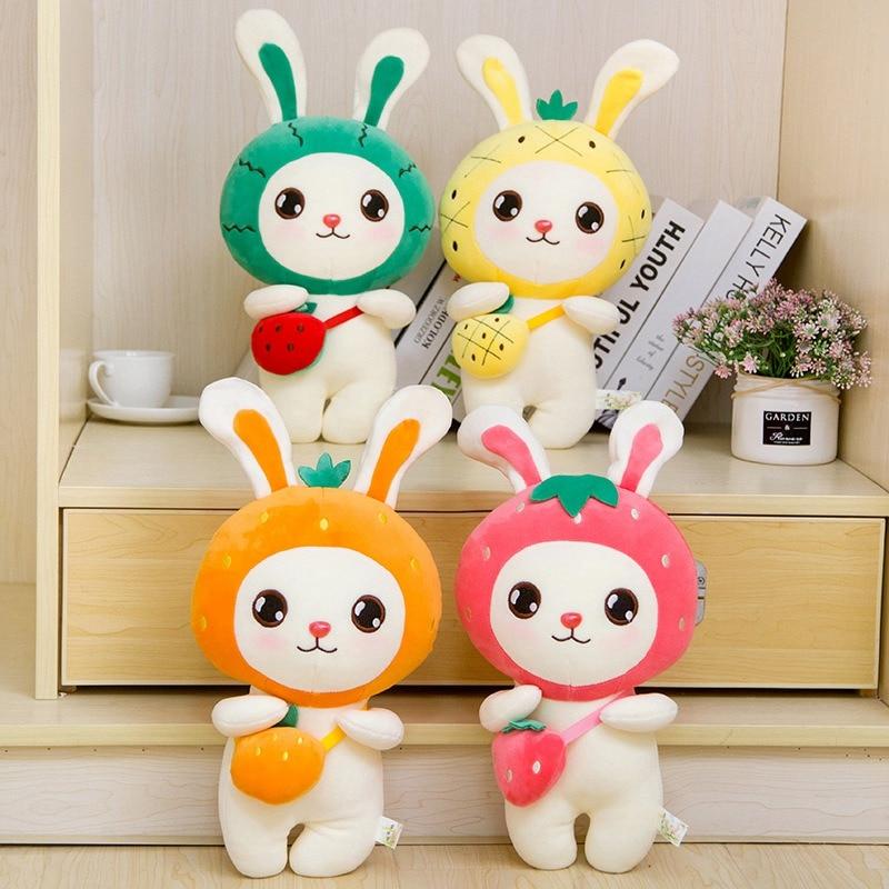 1 шт. 30/45/60/80 см Kawaii фрукты кролик плюшевые игрушки милые мягкие животные Подушка Мягкая кукла для детей подарок на день рождения Pres