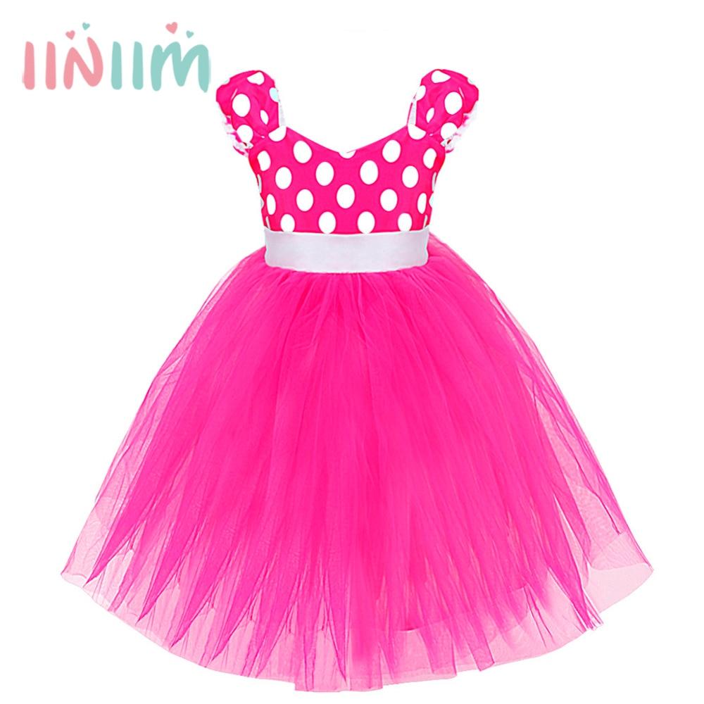 iiniim/принцесса с Hub-Pack для девочек в горошек бал платье театрализ