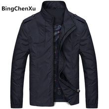 Bingchenxu Solid Color Trend Slim Fit Casual Mens Jackets And Coats M-4XL 2019
