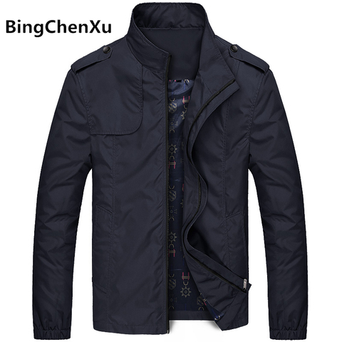 Bingchenxu Solid Color Jacket Men Brand Jackets Fashion Trend Slim Fit Casual Mens Jackets And Coats M-4XL 2019 Veste Homme 487 Pakistan