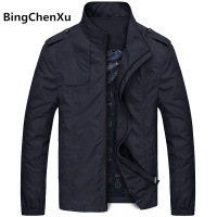 Bingchenxu Solid Color Jacket Men Brand Jackets Fashion Trend Slim Fit Casual Mens Jackets And Coats M 4XL 2019 Veste Homme 487