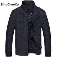 Bingchenxu Solid Color Jacket Men Brand Jackets Fashion Trend Slim Fit Casual Mens Jackets And Coats M 4XL 2019 Veste Homme 487