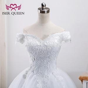 Image 4 - רקמה ואגלי תחרה כדור שמלת ערבית שמלות Vestidos דה Novia 2020 שווי שרוולי כלה שמלת חתונת שמלות WX0002