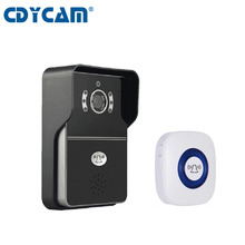 On sale CDYCAM Hi3518E wifi doorbell Camera 433MHz support 5 users H2.64 1.0MP HD 720P IR-CUT wireless doorbell Night Vision Waterproof