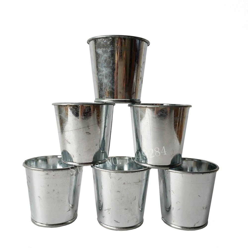 100pcslot wholesale small metal succulents planter decorative flower pots iron planter pots galvanized nursery pots - Decorative Planters