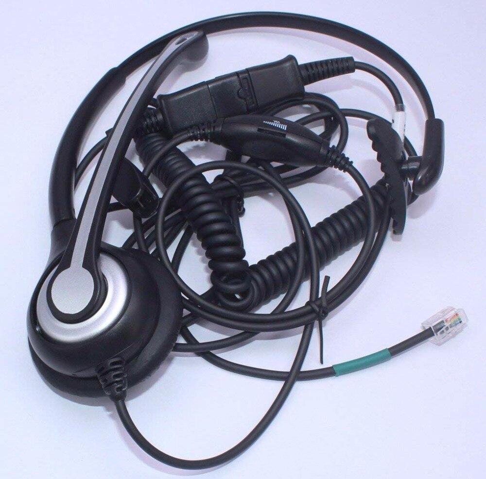 Wantek Corded Telephone Headset Mono /Noise Canceling Mic +