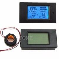 AC 100A LCD Digital Volt Watt Power Meter Blue Backlight Panel Ammeter Voltmeter 110V 220V