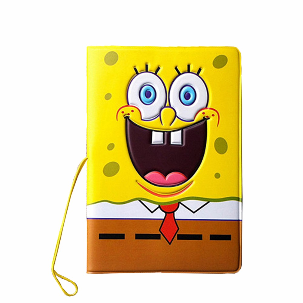 Cartoon 3D Stereo Spongebob Pssport Holder PVC Passport Cover Passport Identify Card Documents Abroad Travel Case