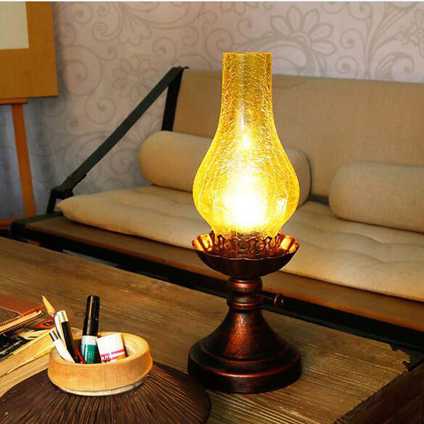 Chinese style Retro vintage kerosene Table lamp,bedroom ...