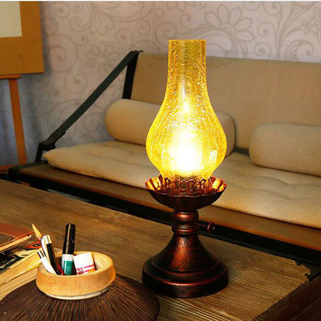 Chinese style retro vintage kerosene table lampbedroom bedside chinese style retro vintage kerosene table lampbedroom bedside table lights dimming reading desk lamp aloadofball Choice Image