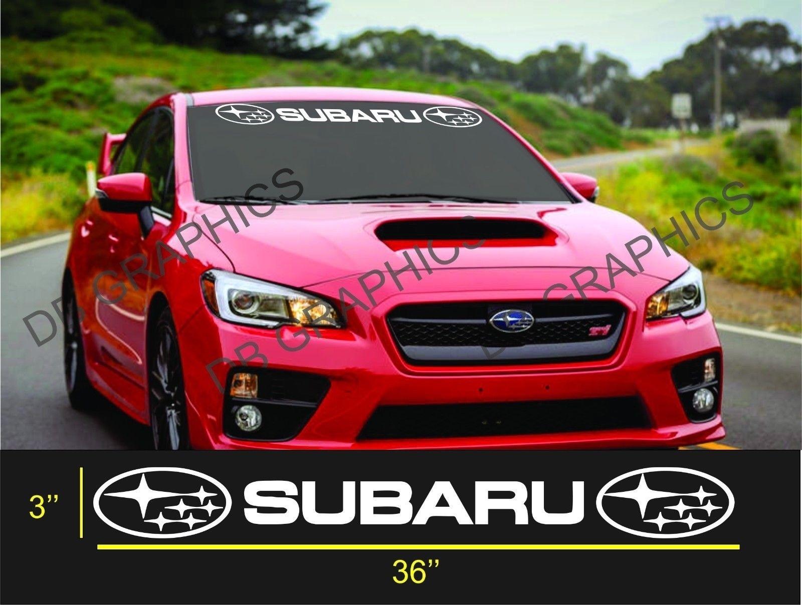 For subaru windshield sticker banner decal vinyl rally window graphic wrx custom sti