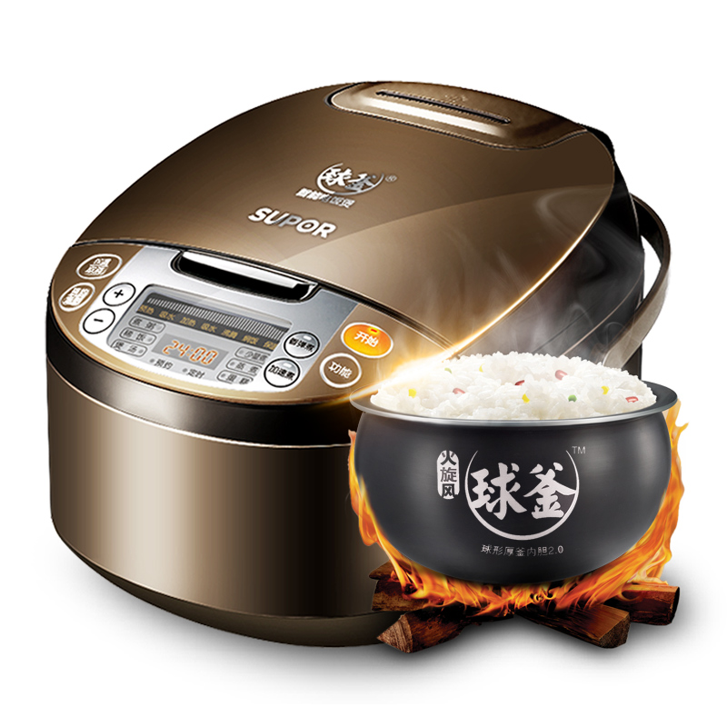 SUPOR CFXB40FC835-75 Rice cooker 4L Home intelligent Genuine 3-6 people Rice cooker multi electric pressure cooker rice cooker 220v 4l capacity intelligent touch household meat beaf mutton cooker pot wf y4002s