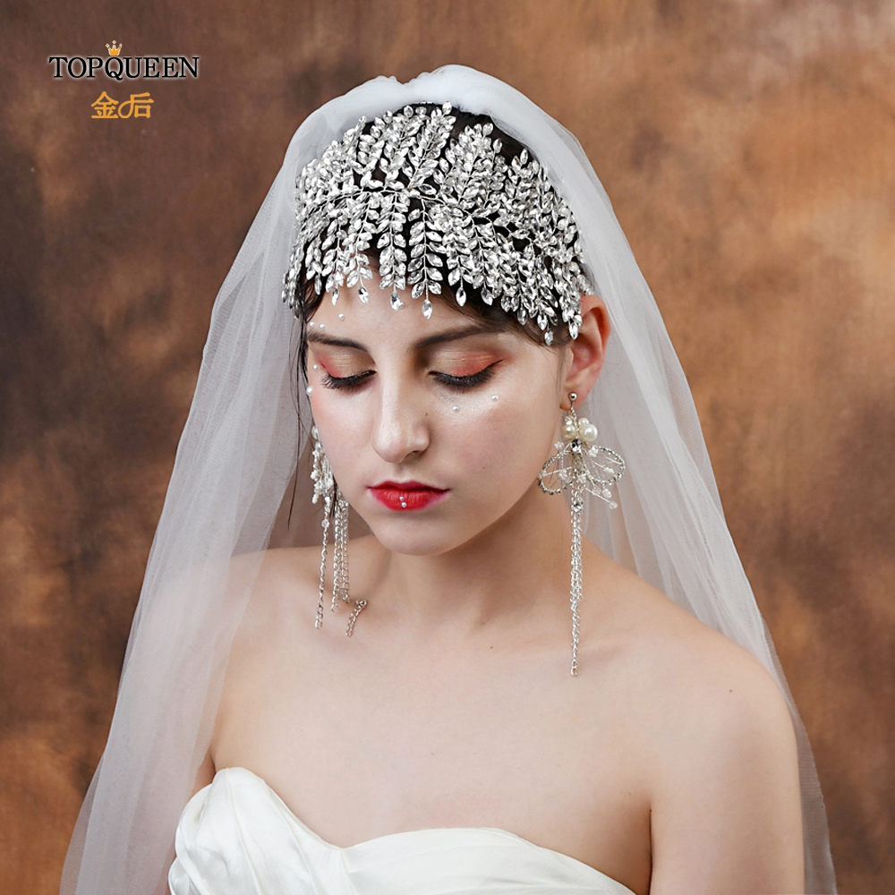 TOPQUEEN HP238 Wedding bridal crown bridal hair pieces for wedding Bridal Wedding Hair Accessory With Rhinestone fast delivery