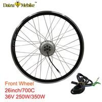36V 250W 350W Electric Motor Wheel 26700C Front Wheel Electric Bike Conversion Kit Motor Wheel Brushless Gear Hub E bike Motor