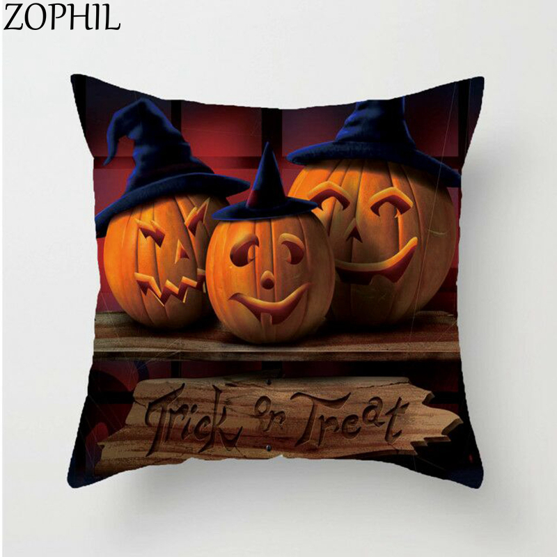 Happy Halloween Tips On Home Decoration 1: ZOPHIL 1pcs Happy Halloween Decoration 45x45cm Horror