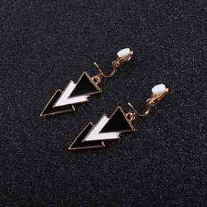 JIOFREE Fashion Korea Style triangle Clip on Earrings Without Piercing for Girls Party Cute Animal No Hole Ear Clip