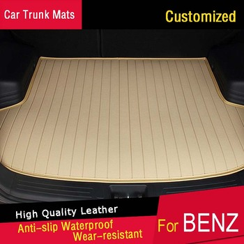 Car Trunk Mats Specially for Mercedes Benz B180 C200 E260 E CL CLA GLK300 ML S350 S400 Boot Liners Waterproof Trunk Rugs Carpets