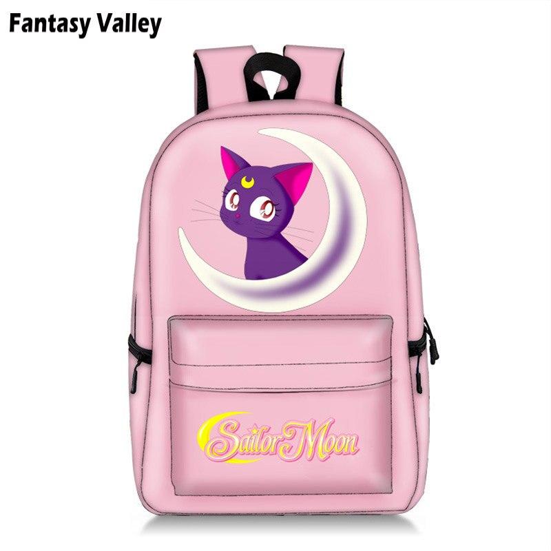 Sailor Moon Students Backpack King Dog Children School Bags Backpack For Teenager Girls Pink Book Bag Women Laptop Backpack