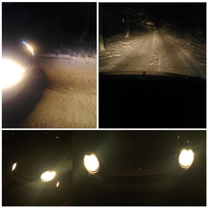 2 STK H7 gul halogenlampa 12V 55W Xenon 2700K hårt glas - Bilbelysning - Foto 6