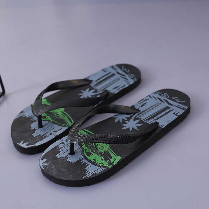 cbab41934067 ... 2018 New Coconut Tree Slippers Men s Flip-flops Summer Beach Shoes  Non-slip Beach ...
