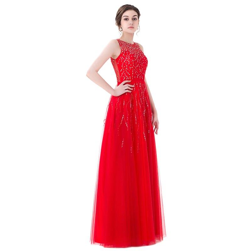 Long Red Evening Dresses 2018 A Line Scoop Cap Sleeve Prom Dress Sheer Back  Sequined Beaded Evening Gown Vestido De Festa ea99ae277d4f