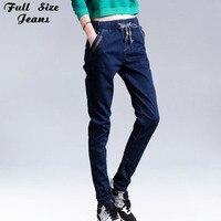 Elastische Hohe Taille Skinny Jeans Frauen Boyfriend-Jeans Frau Marke Plus Size Dark Blue Jean Dünne Femme Pantalon XXS 6XL 54 S 7XL