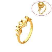 Beadsnice ID29774 rắn 18 k vàng diamond ring semi gắn kết thiết lập vòng nhẫn cưới đối với phụ nữ fit 10 mét đá quý miễn phí vận chuyển