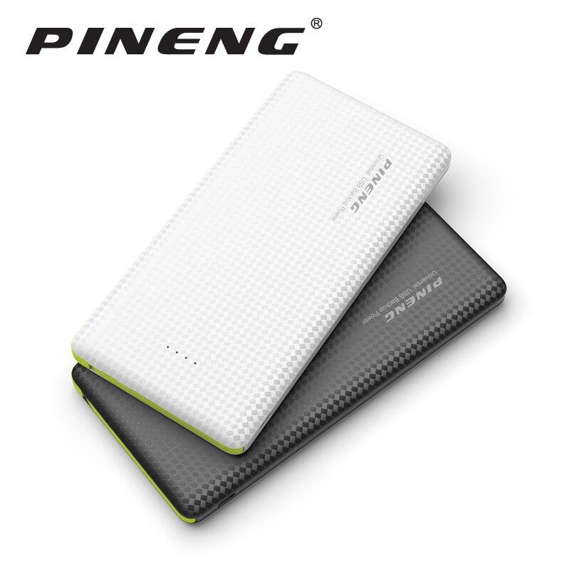 Pineng banco de la energía 10000 mah batería externa portátil móvil cargador dua