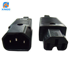 Кабель питания IEC60320 C13, штекер C14, гнездовой блок питания/блок питания, адаптер 10 А, 250 В, CE(EMC,LVD), RoHS FCC