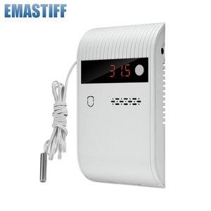 Работа независимо Проводная И Беспроводная 433 МГц детектор температуры 75 дБ светодиодный звуковой сигнал для дома PSTN GSM WIFI сигнализация