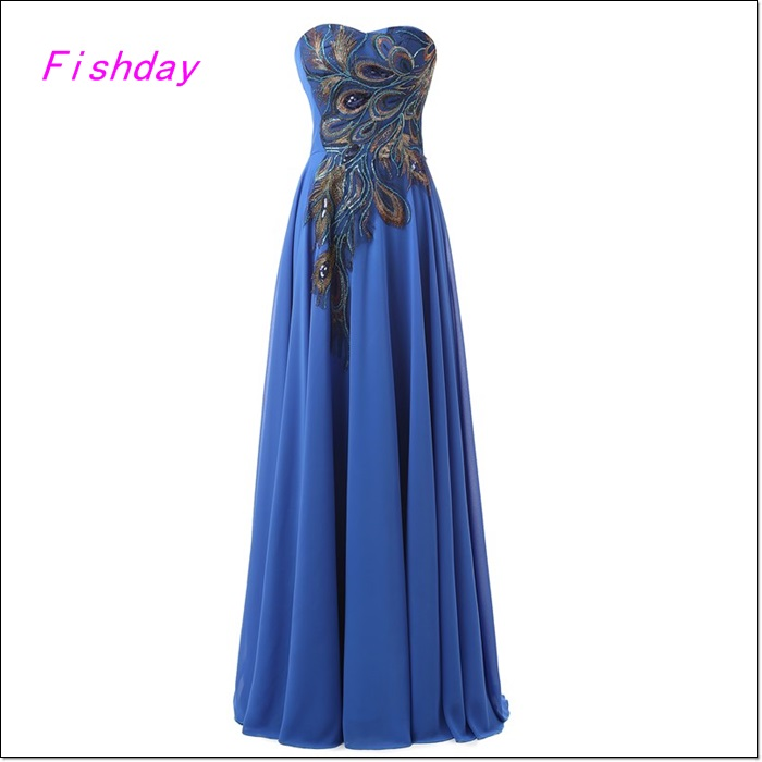 Peacock Evening dresses long 2016 high quality Plus Size Royal Blue Formal Gowns Party Mother of the Bride Lace On Sale A30