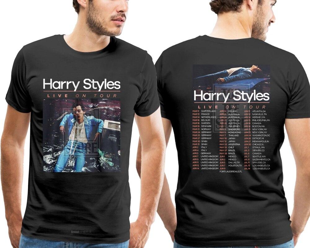 Gildan Harry Styles Männer Schwarz T Hemd Männer T-shirt 3d Druck T Hemd Homme 3d Gedruckt T-shirts Männer Beiläufige Kurze hülse