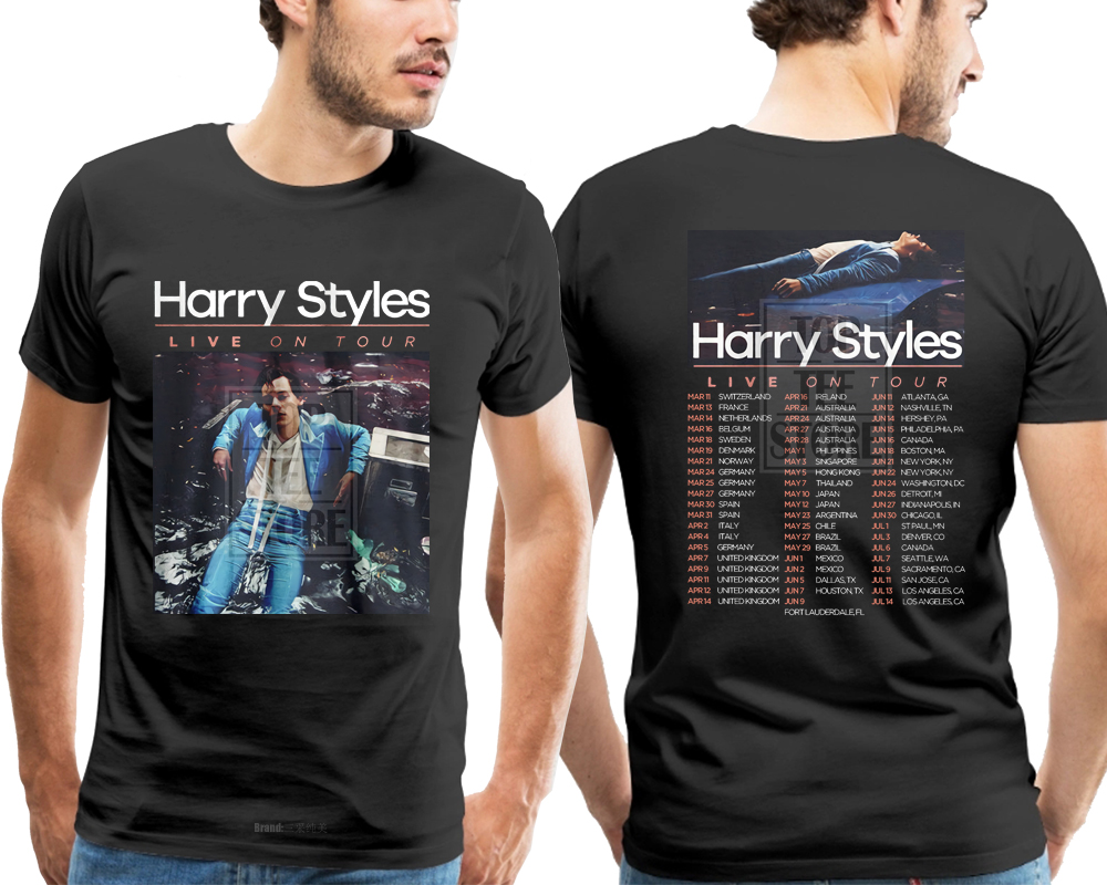 Gildan Harry Styles Uomo Nero T Shirt Uomo T-Shirt 3d stampa Tee Shirt Homme 3d T-shirt Stampate Uomini Casual Breve manicotto
