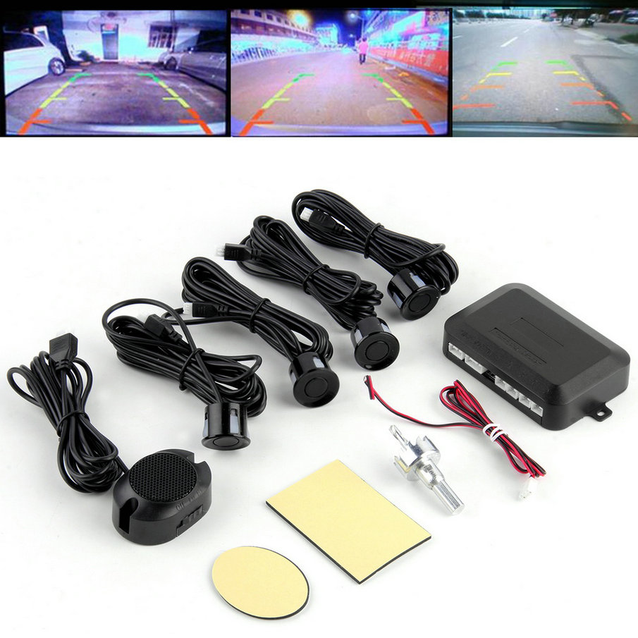 Car LED Parking Sensor Kit Display 4 Sensors 12V for all cars Reverse Assistance Backup Radar