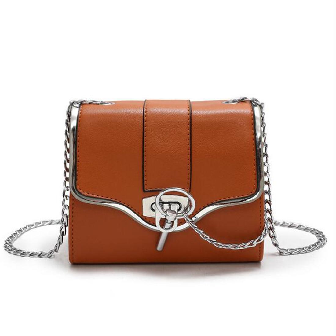 YEJIA FASHION Chain Strap Women Messenger Bag Korean Style Metal Lock Flap Women