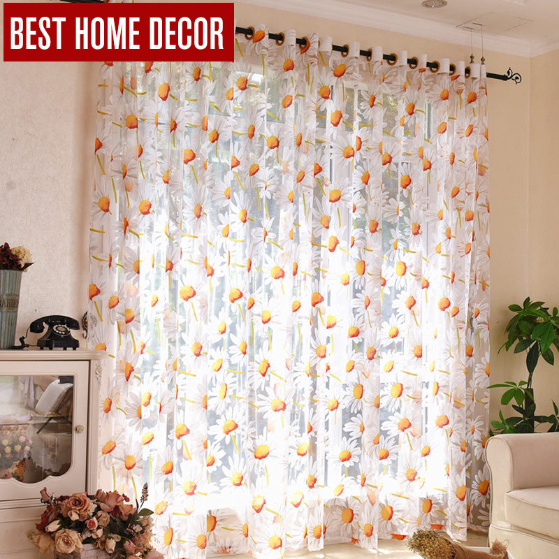 Home Decor D Sheer Window Curtains