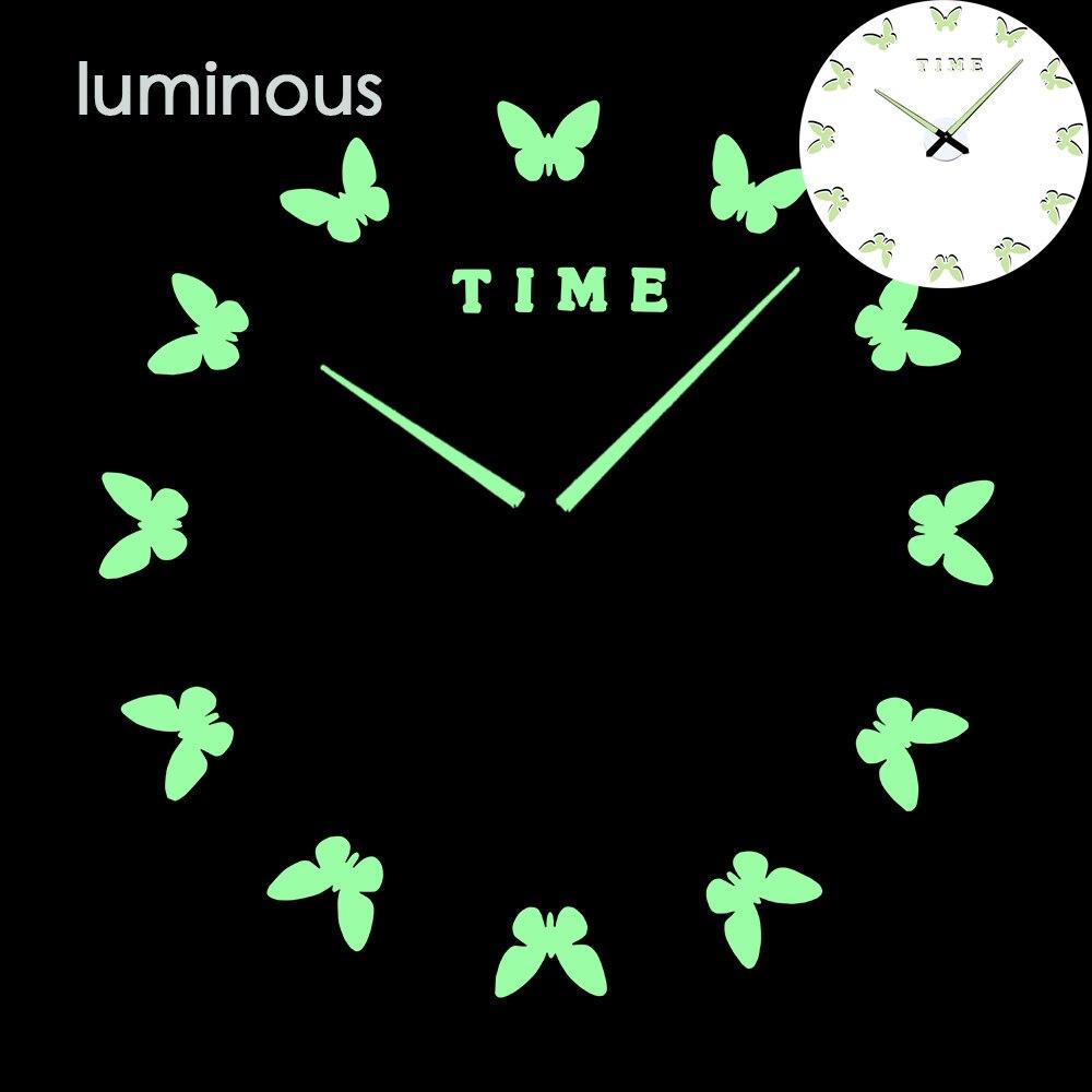27 различных дизайнов светящиеся настенные часы современный дизайн настенные цифровые большие Big3D DIY модные Saat Reloj Horloge klok - Цвет: wall clock 4