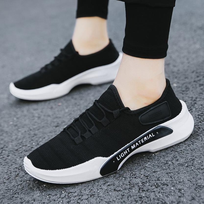 Solos Otoño Moda Black Zapatos Punta 2018 De white Transpirable Hombres Con Cordones gray Casual Malla Zapatillas Los Masculinos Redonda 66rwFHqP