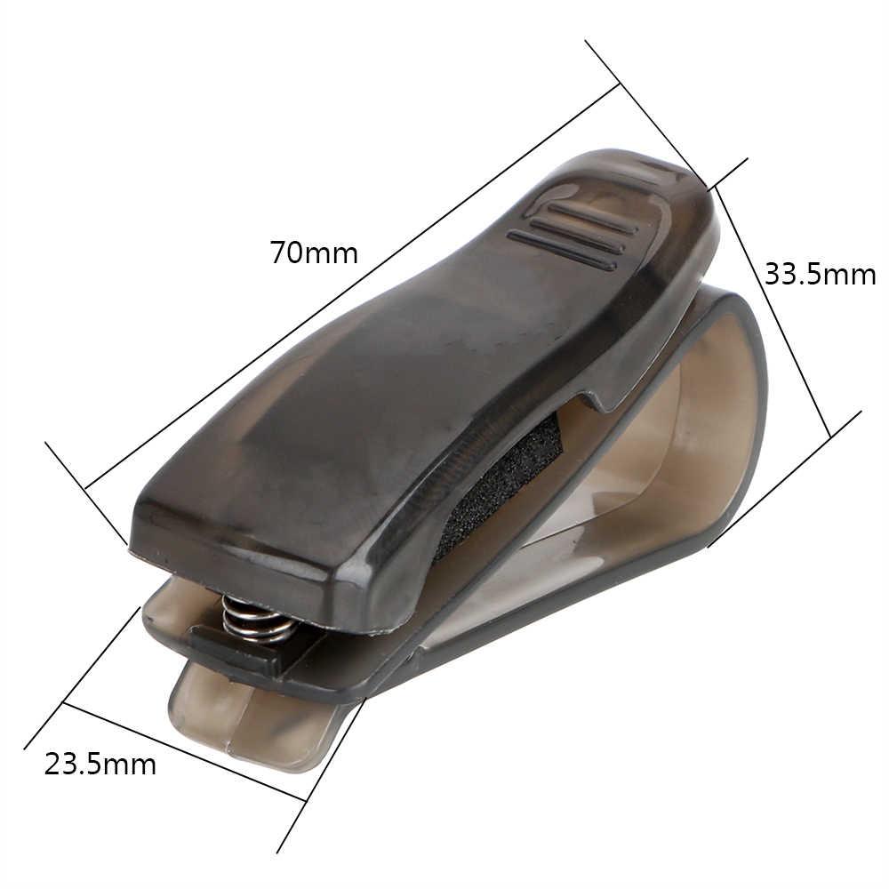 Etui à lunettes universel Clip support de stockage Clip Auto attache pare-soleil lunettes porte-lunettes de soleil pince à billets récipient en verre