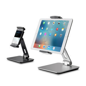 Universal Smartphone & Tablet Stand, Aluminum Desk Mount Holder fits for 3.5-6.5 inch Smartphone 7-13 inch iPad Pro Air Mini