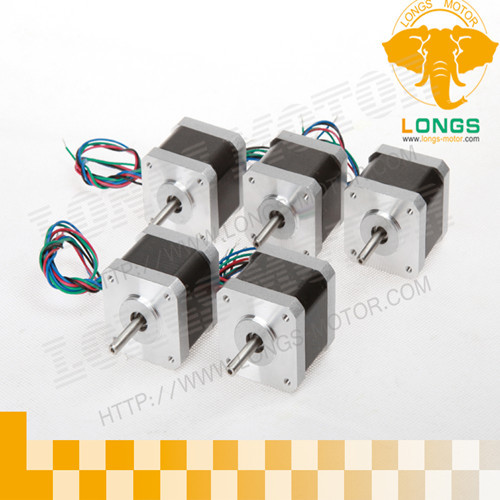 5pcs Nema17 stepper motor with 2.6KG.CM, 0.4A,4 leads for CNC Router/Engraver 3D Printer-Longs Motor