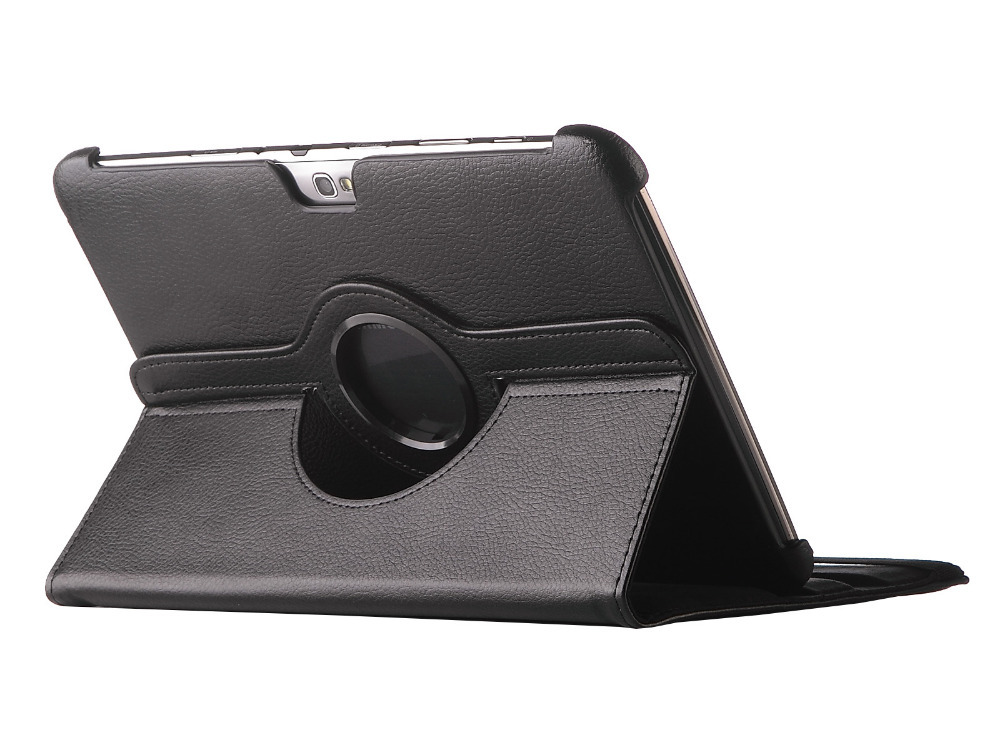 HOT Case For Galaxy Note 10.1 GT-N8000 N8010 N8020 Tablet case 360 Rotation Stand PU Leather Flip Case +Screen Protector+stylus