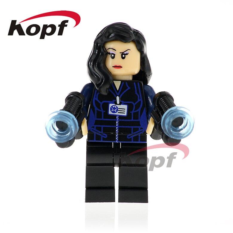50Pcs XH 790 Super Heroes Melinda May Deathlok Jemma Simmons Mockingbird Bricks Building Blocks Collection Toys for children