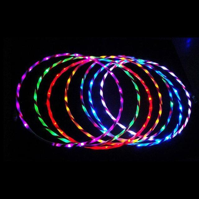 90 см LED Glow Hula Hoop Производительность Хооп Спортивные Игрушки Похудеть Ребенок