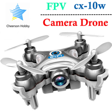 Drone with Camera Cheerson CX-10W CX 10W Mini 6-Axis Gyro RC Quadcopter Headless Mode Remote Control Helicopter RTF