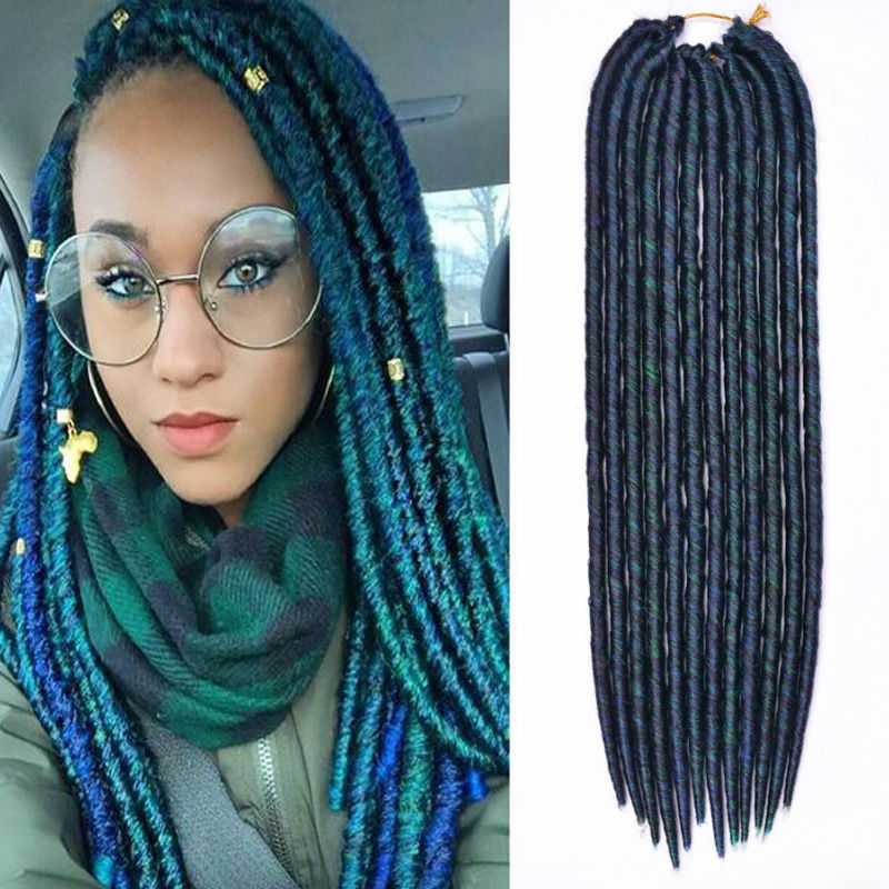 Super Long Synthetic Hair Extensions 18 Inch Soft Dread Hair Synthetic Dreadlocks Dreadlock Extensions Crochet Synthetic Dreads