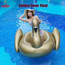 1.9m pvc golden swan inflatable water float rider Summer Lake Swimming Water Lounge Pool float Kid Giant Rideable Swim  Swan