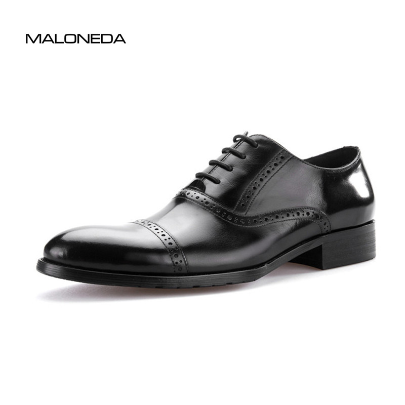 MALONEDA Brand New Handmade Mens Leather Lace-up Oxford Dress Shoes For Mens Wedding ,Party ,Business,Working WearingMALONEDA Brand New Handmade Mens Leather Lace-up Oxford Dress Shoes For Mens Wedding ,Party ,Business,Working Wearing