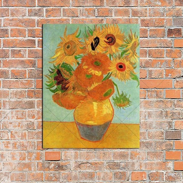 Oil Painting On Canvas Vase With Fifteen Sunflowers Vincent Van Gogh
